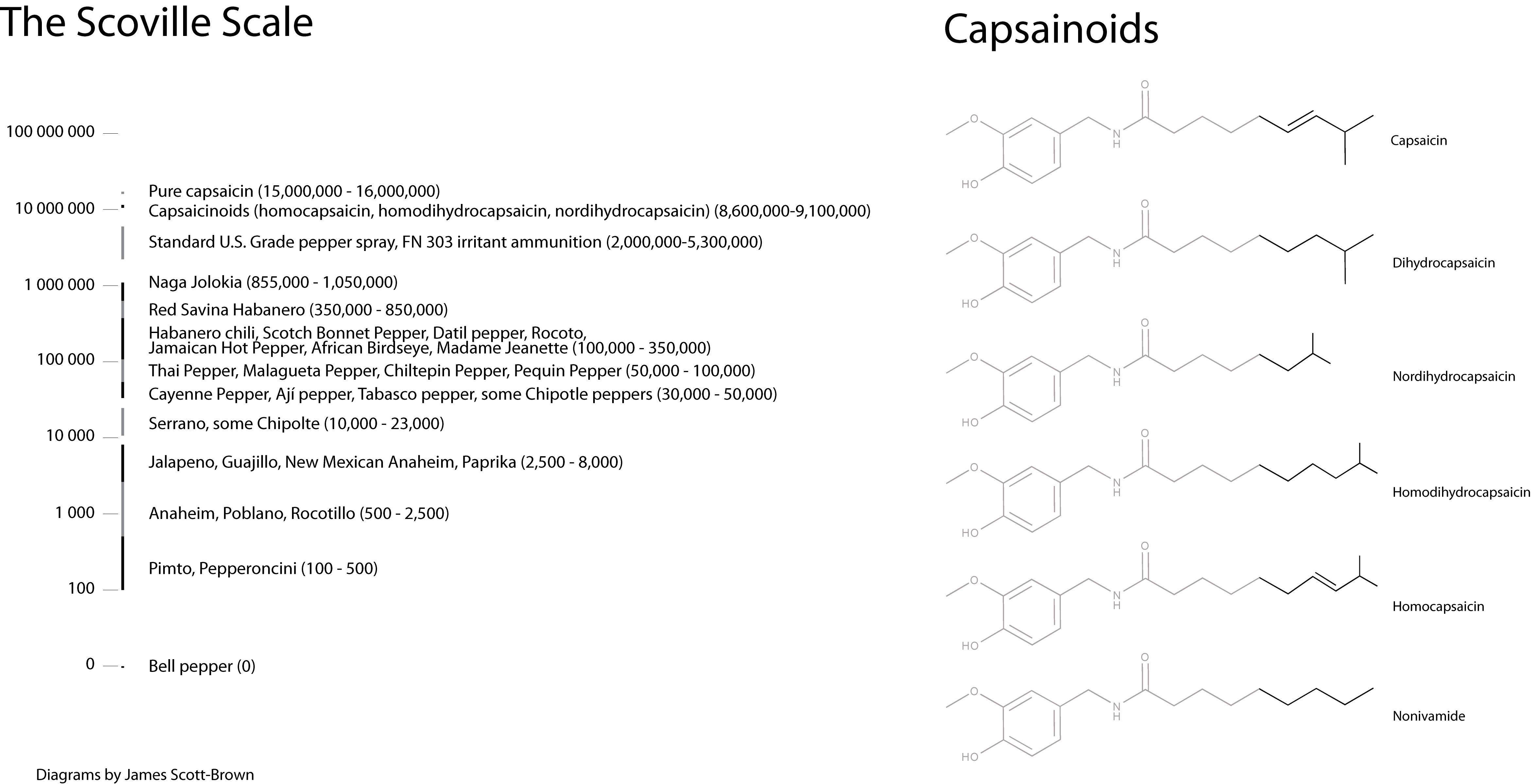 Capsainoids and the Scoville Scale
